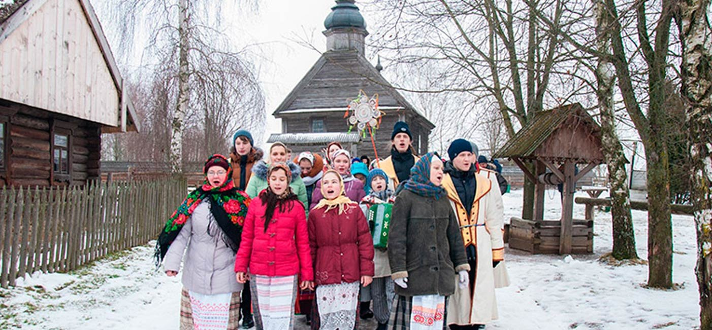 "Photo report ""Kaliady"" in Belarusian scansen!"
